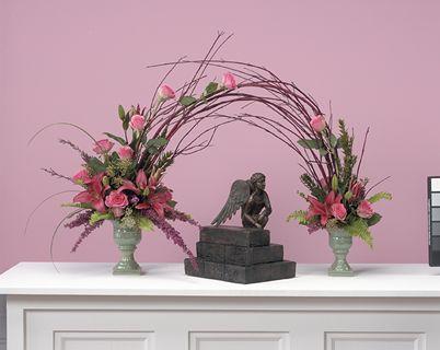 unusual floral arrangements for funerals | Memorial Arch Arrangement | Funeral Flowers by Lorraine | Fairfield ...