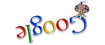 Google Aliens 2000 - 4 04-05-2000 Global,  Outer Space, Quirky, Upside Down Logo, Martian, Spaceship  Tags: