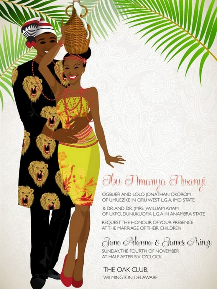 Nigerian wedding Invitations - 10 African Wedding Invitations Designed Perfectly! » KnotsVilla