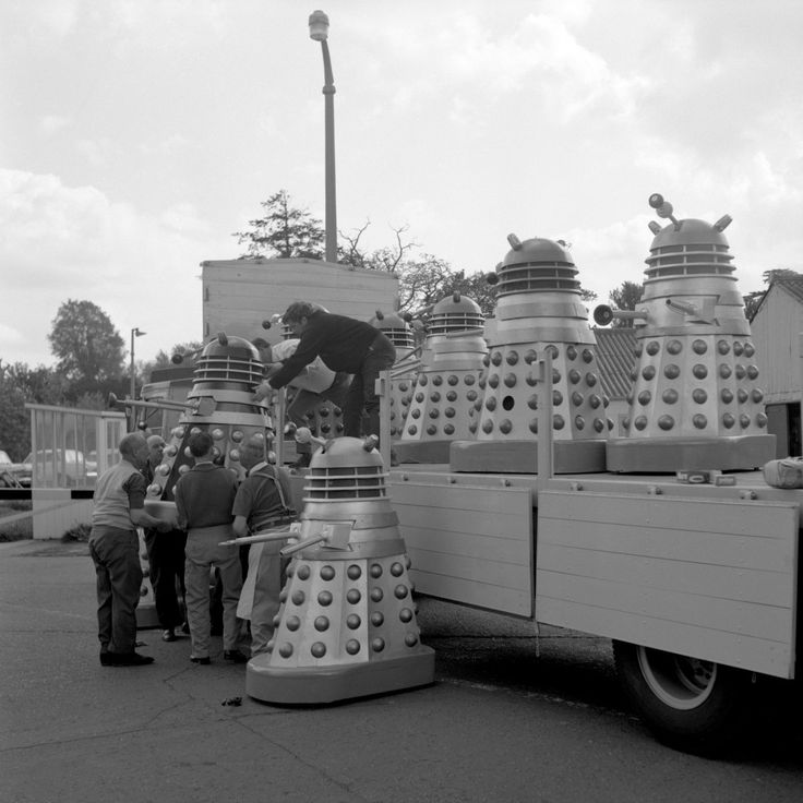 A lorry-load of Daleks at Shepperton Studios. Ref #: PA.10285765  Date: 17/05/1965