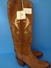 Epic TONY MORA Cowboy Boots Womens Sz 4.5 - 5 Tall BROWN Birds $329 Retail NEW!