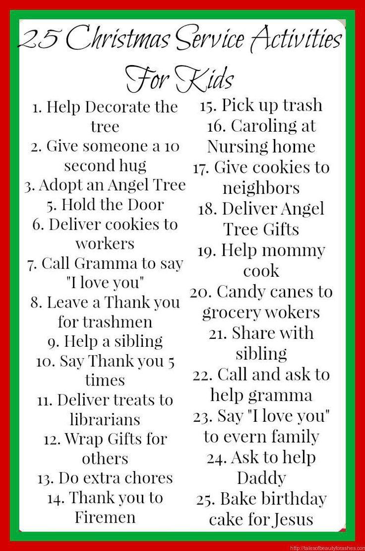 25 Christmas Service Activities