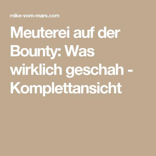 Meuterei auf der Bounty: Was wirklich geschah - Komplettansicht