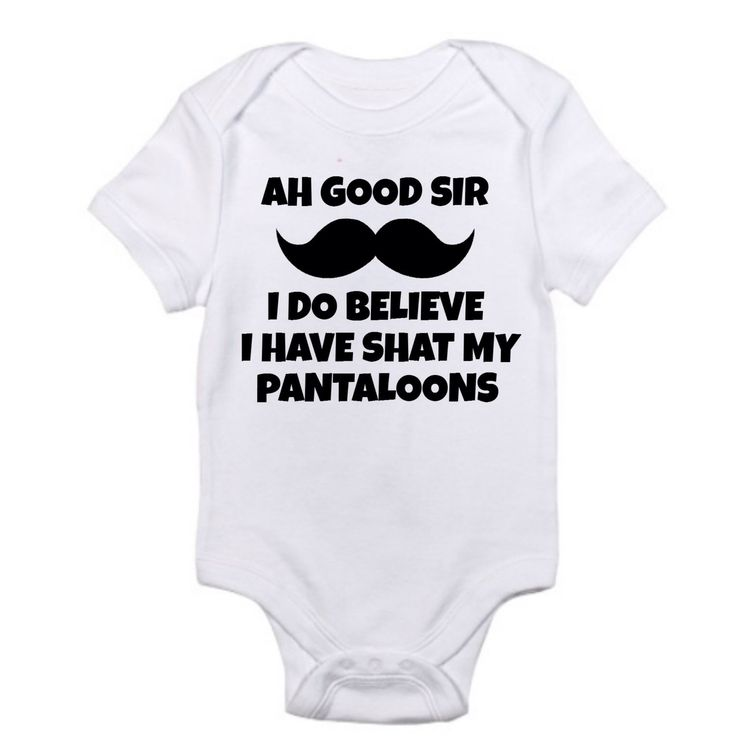 Shat My Pantaloons, Newborn Baby Boy Clothes, Baby Boy Clothes Funny, Newborn Baby Boy Gifts, Newborn Baby Boy Coming Home Outfit Baby Shirt by TitanTeez on Etsy https://www.etsy.com/listing/263820927/shat-my-pantaloons-newborn-baby-boy