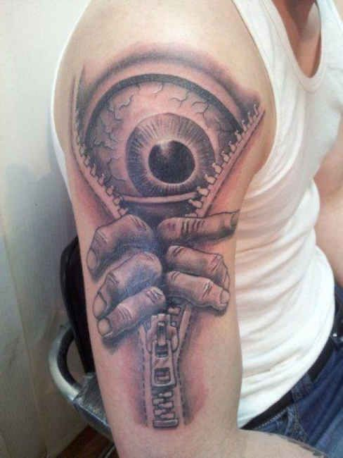 Zipper with eye Tattoo   #Tattoo, #Tattooed, #Tattoos
