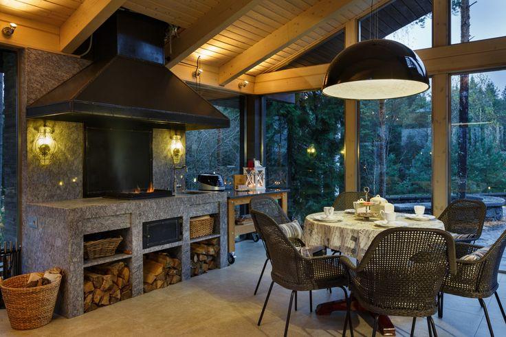 Фото интерьера веранды дома в современном стиле