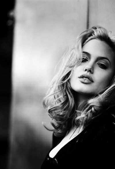 Angelina Jolie Black and White