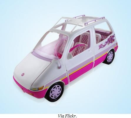 Barbie Van... Had this bad boy. And you could tailgate with it because the trunk was a BBQ.. lol.
