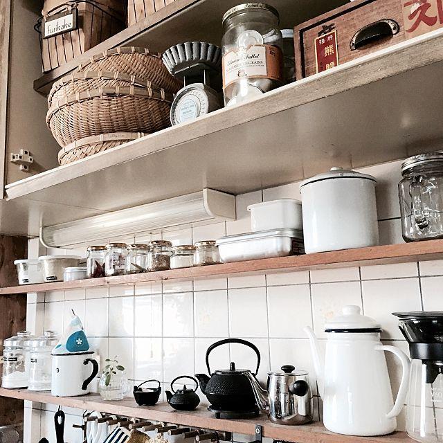 女性で、2DKのIG→CHOCO_AND/コンテスト参加/南部鉄器/キッチンについてのインテリア実例を紹介。「毎日使うものはすぐに取り出せる場所に♬」(この写真は 2015-07-14 08:01:29 に共有されました)