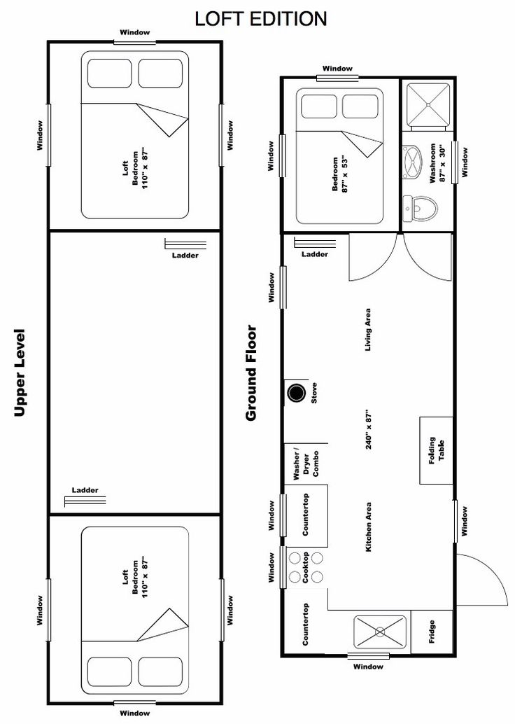 114 best Home Plans images – Tiny House Floor Plans With Loft