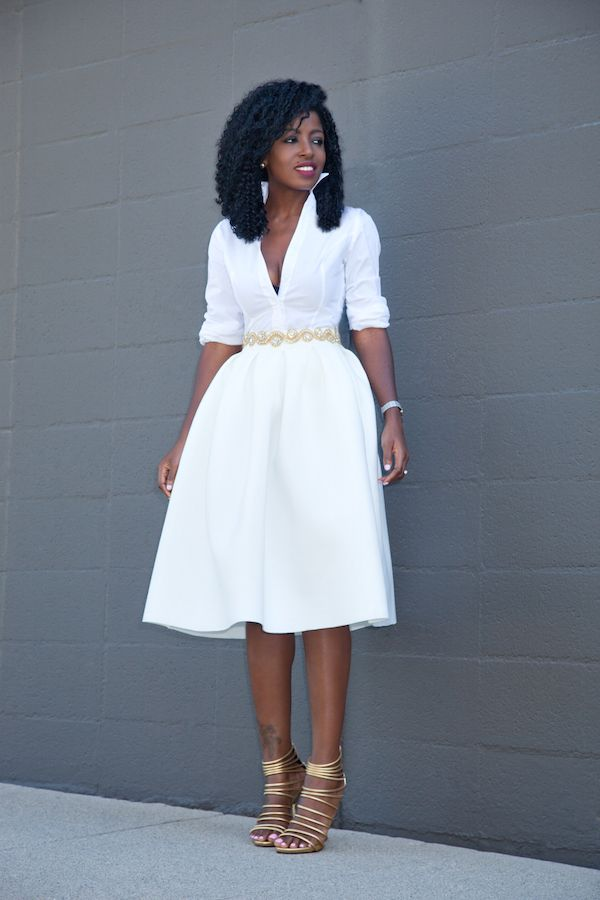 B smart white dress old