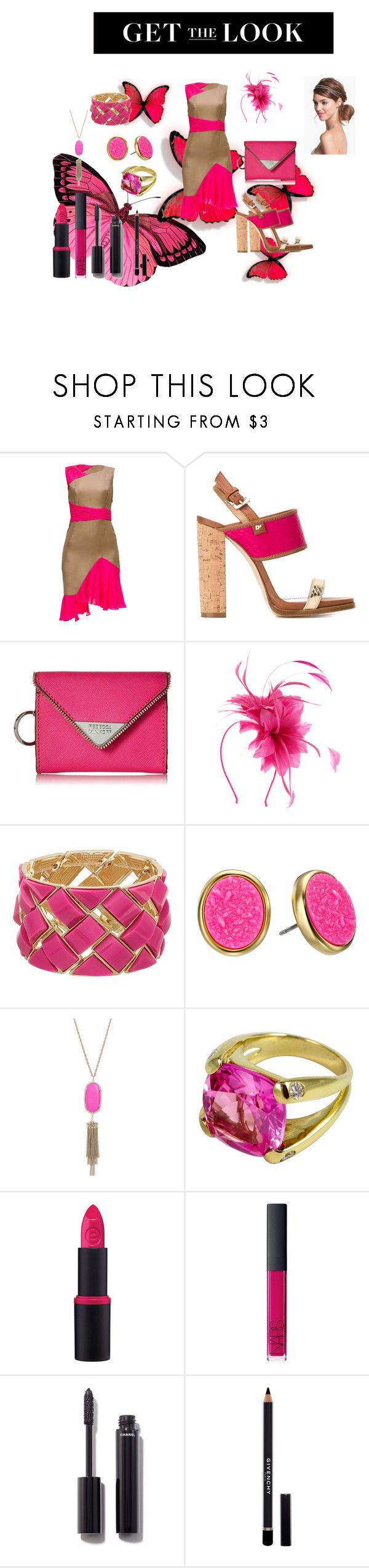 Get the look by kelly17-kalymnos on Polyvore featuring Lattori, Dsquared2, Rebecca Minkoff, Kate Spade, Christina Addison, Kendra Scott, Chanel, Essence, NARS Cosmetics and Givenchy