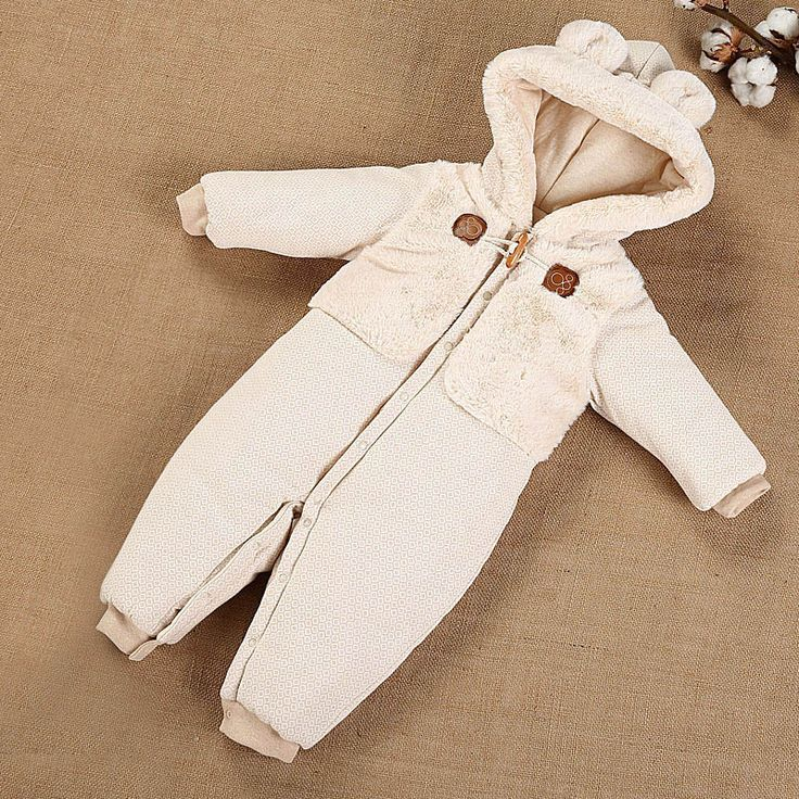 Winter Hooded Baby Rompers Thick Warm Organic Cotton Newborn Clothes For Boy & Girl Appropriate Height: 59, 66, 73, 80, 90 cm Age: 1-24 months