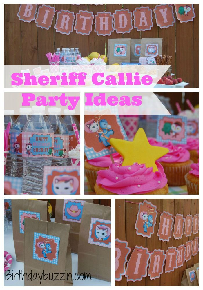 Sheriff Callie Party ideas - Decorations, food, favors, free invitation templates, cake decorating, birthday party printables and supplies.
