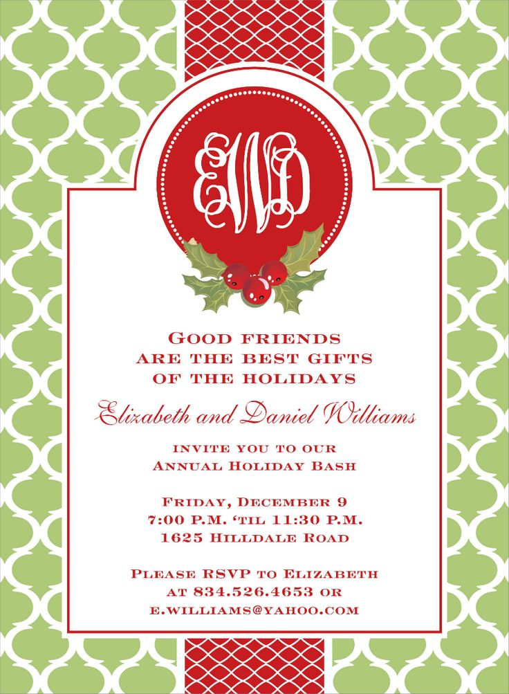48 best Christmas Party invite ideas images on Pinterest | Noel ...