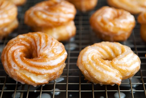 french crullers...basically, cream puff dough! Great to have this recipe.Favorite Donuts, Easy Donuts From Scratch, French Cruller Recipe, French Doughnuts, French Crullers, Doughnuts Recipe, Cruller Doughnuts, Doughnut Recipes, Favorite Doughnuts