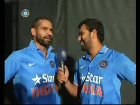 Watch: Rohit Sharma Interviews Shikhar Dhawan. Yeah You Heard That Right! - Cric Crak