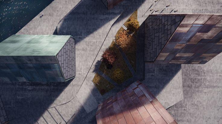 The architectural visualization of Krøyers Plads by Erick van Egeraat / NODE Visual