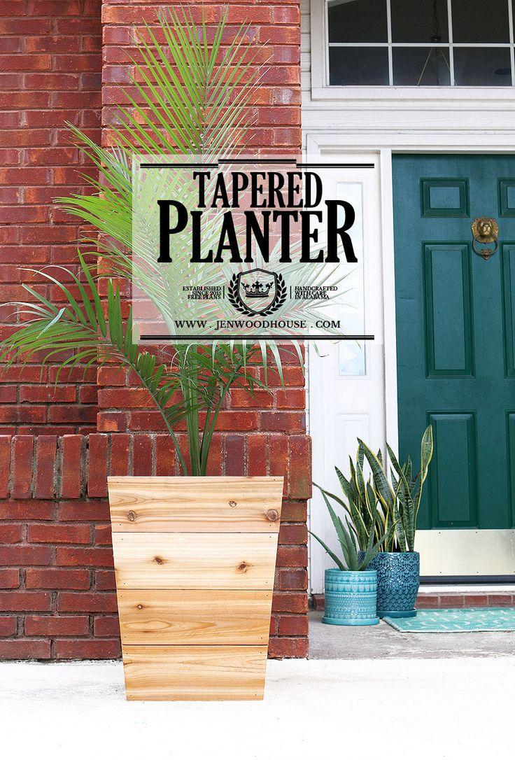 How to build a diy tapered cedar planter cedar planters for Tapered planter box plans