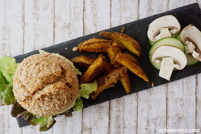Burgers au quinoa et au tofu rosso #VGL