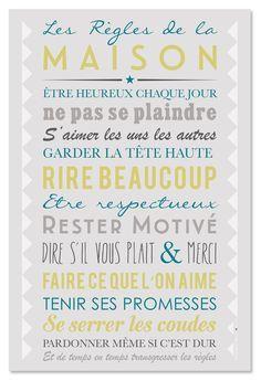 Poster à encadrer - Home Rules Gris
