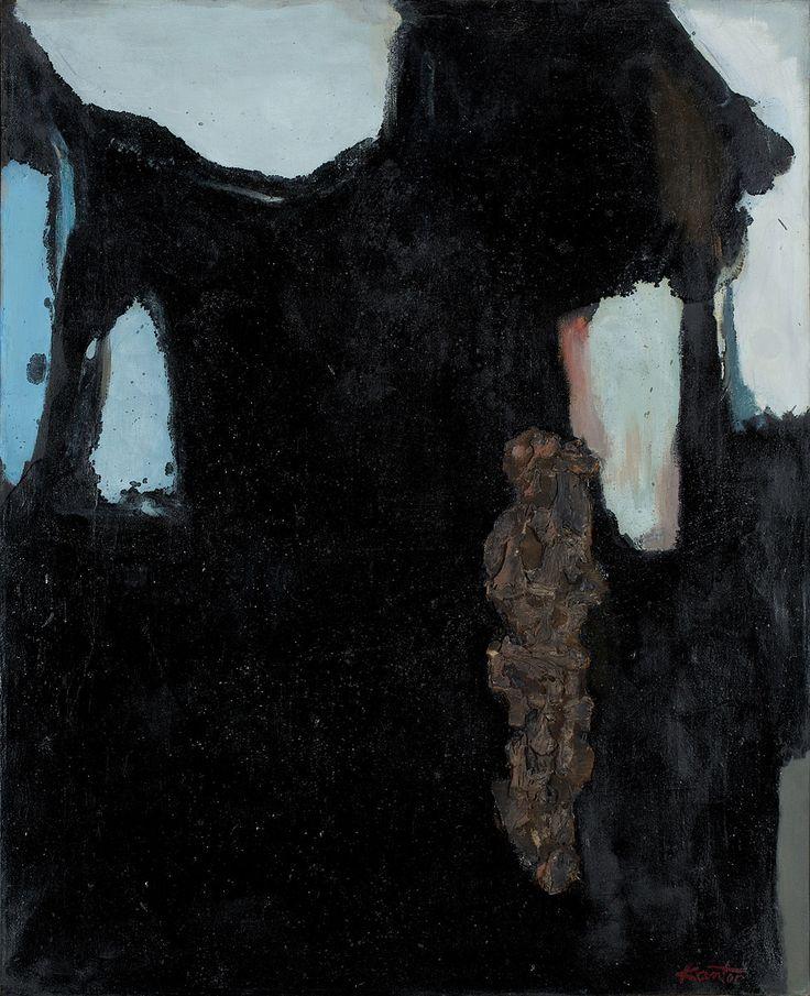 TADEUSZ KANTOR (1915 - 1990)  PEINTURE, 1961   / 100 x 81 cm  sygn. l.d.: Kantor  opisany na odwrocie: T. Kantor III 1961 Cracovie