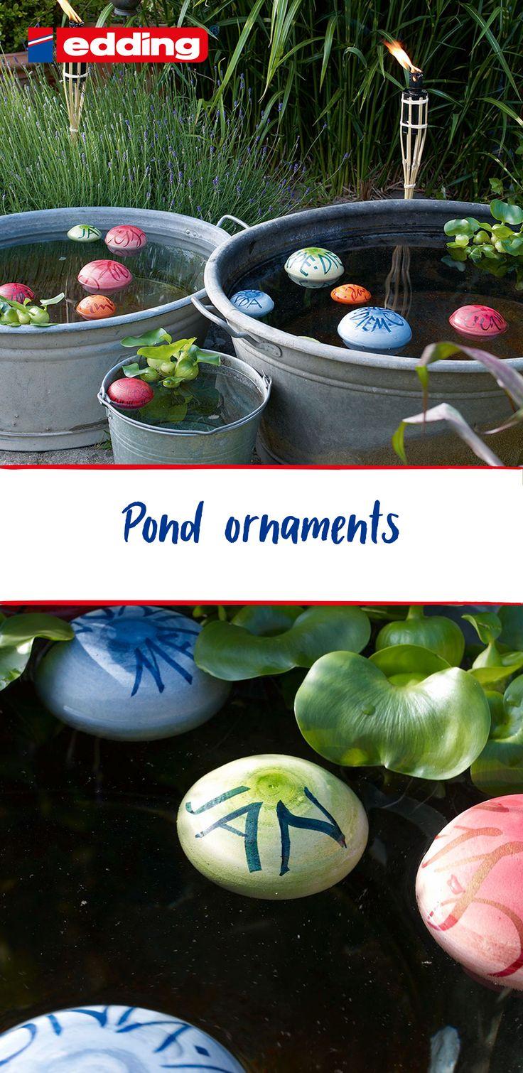 Pond ornaments Pond decorations, Diy pond, Floating
