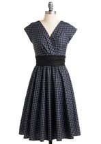 Pretty on the Park Bench Dress in Dots | Mod Retro Vintage Dresses | ModCloth.com