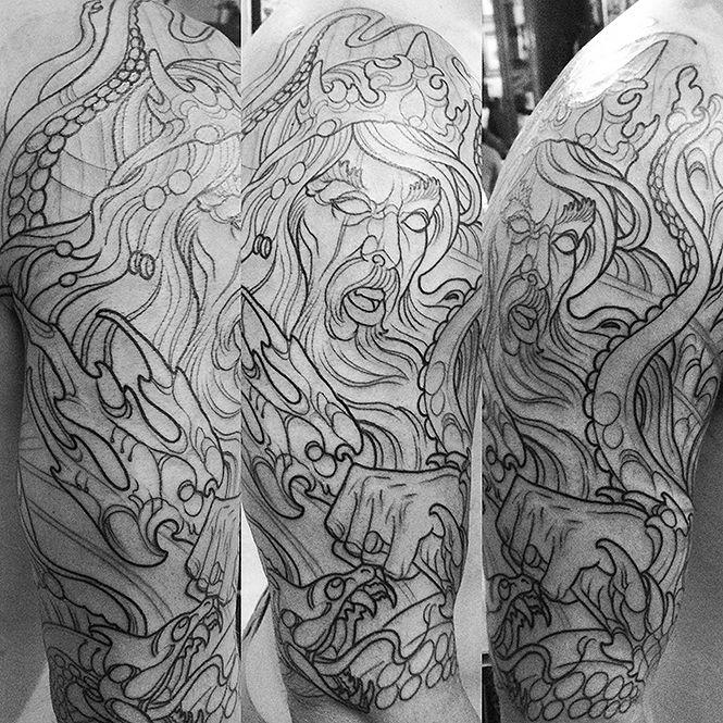 Poseidon tattoo idea love it