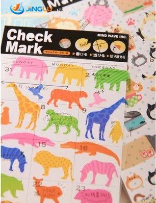 Notebook fai da te segno di spunta gatto animale foto album busta seal scrapbook carta autoadesivo della decorazione del pvc di deco del diario set # mw
