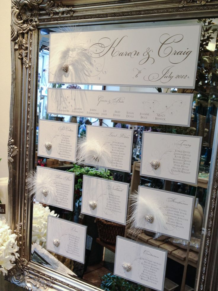 Elegant mirrored wedding or event table plan designed to fit your theme email: info@brideslittlehelper.co.uk