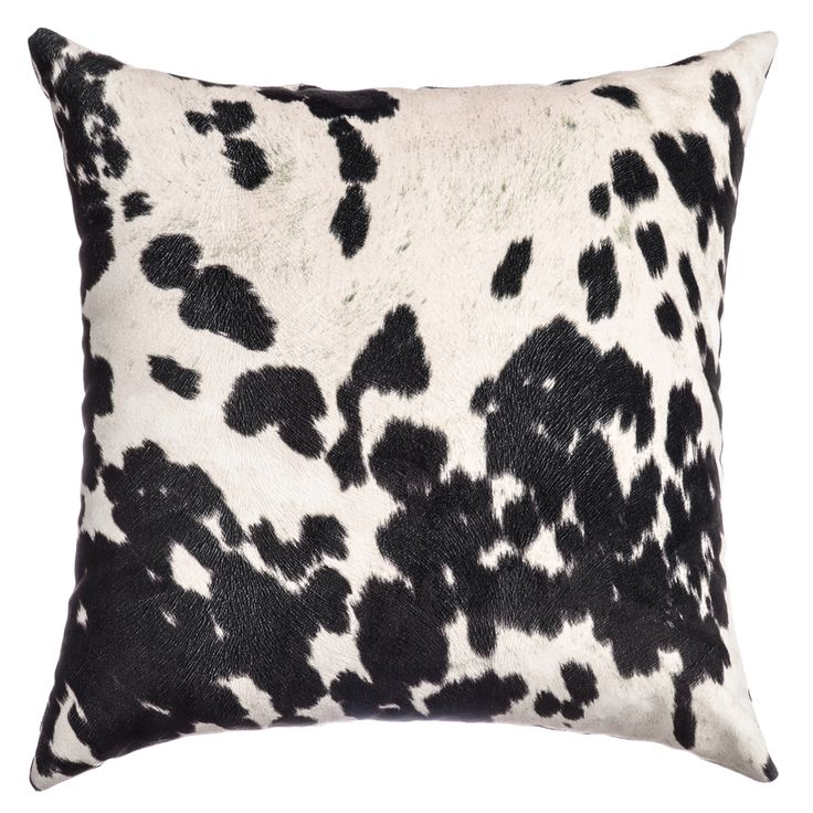 Domain Feather Filled Decorative Pillow : Samps Faux Cow Hide Feather Filled Throw Pillow (Set of 2)