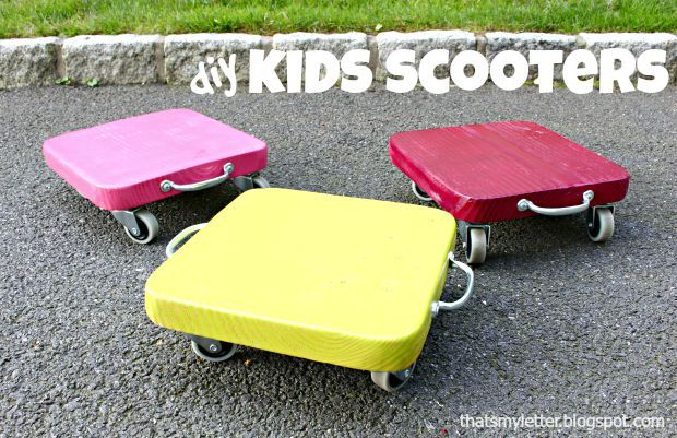 Looking for a quick and easy DIY kids toy you can make at home? Let's make kids scooters! Hello Pretty Handy Readers I'm Jaime from That's My Letter here to share how to make these DIY Kids Scooter