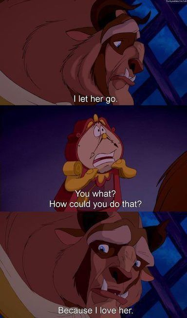 Beauty and the Beast disney speaks the truth