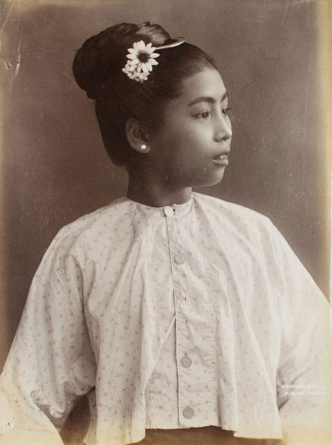 A Burmese girl.    Location: Rangoon, Burma    Date: 1907