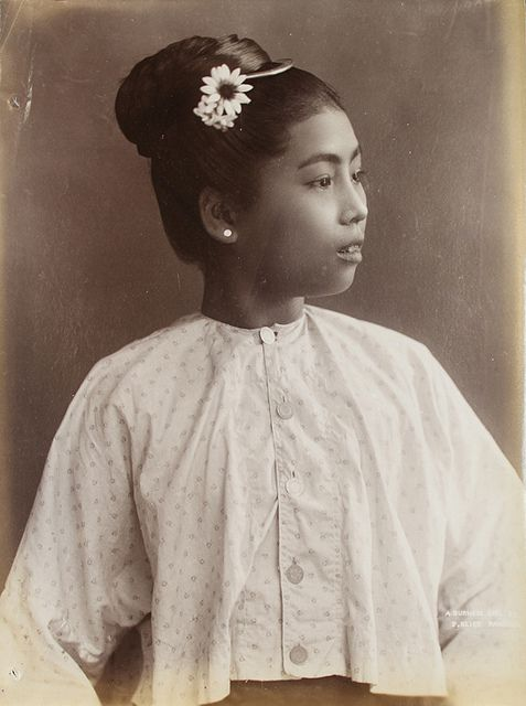 A Burmese girl in the olden days.
