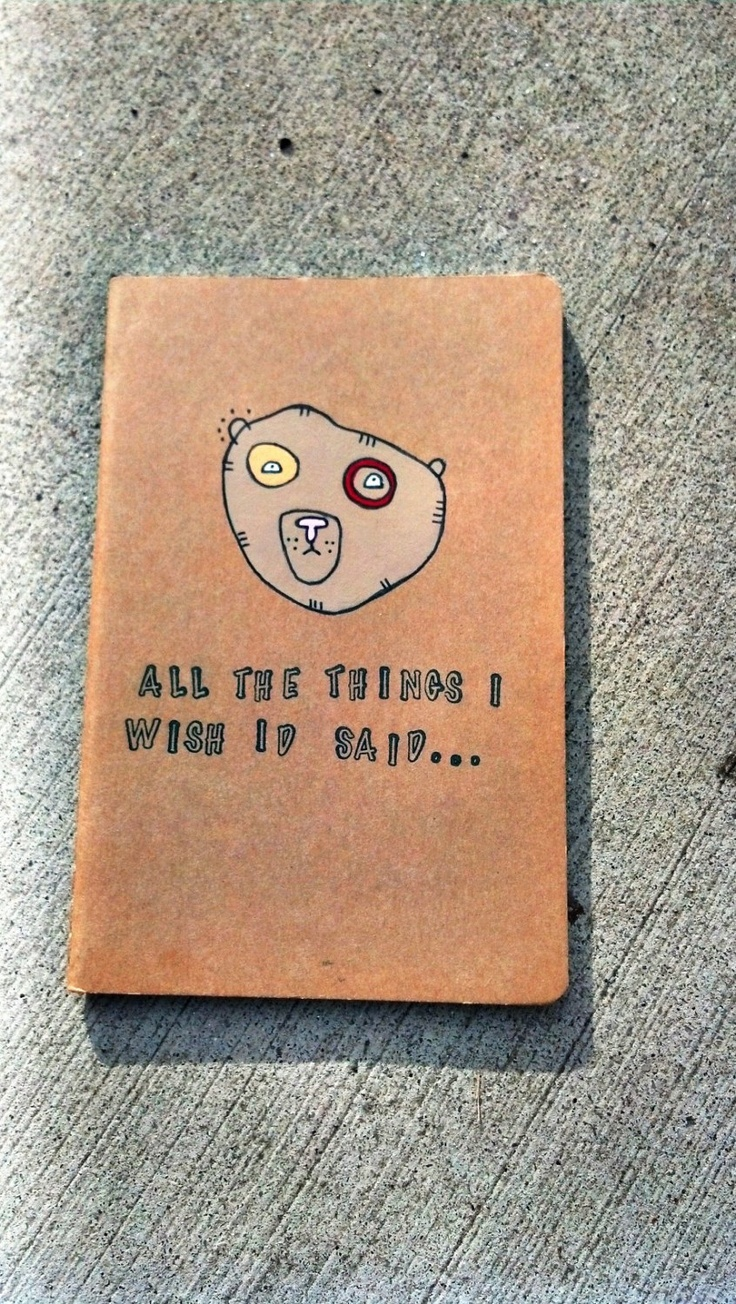 On Etsy. All the things Bear moleskine Original art by yourhandwriting