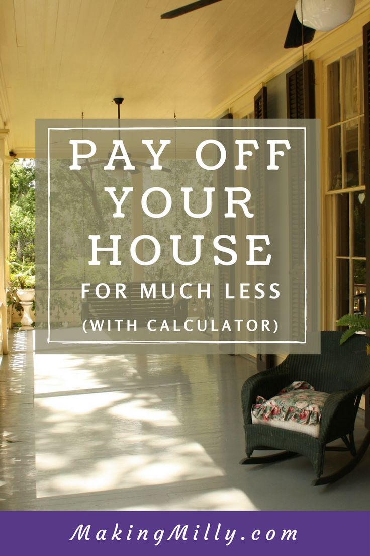 Pay off your mortgage in half the time with this simple method. Mortgage calculator included.