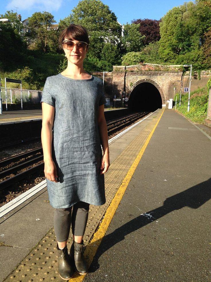 Camber dress in Scout denim linen