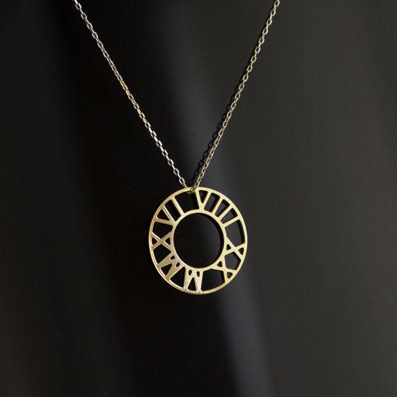 Römische Ziffer Halskette personalisiert Halskette von AtelyeSade