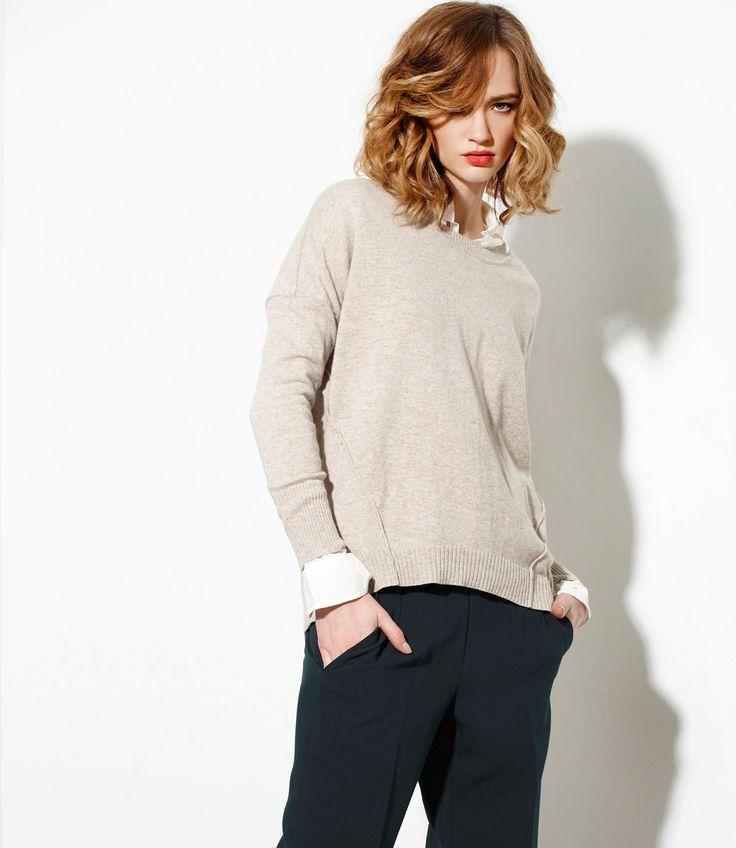 Raw Sweater in Wheat - Cashmere/Merinowww.nineteen46.co.nz