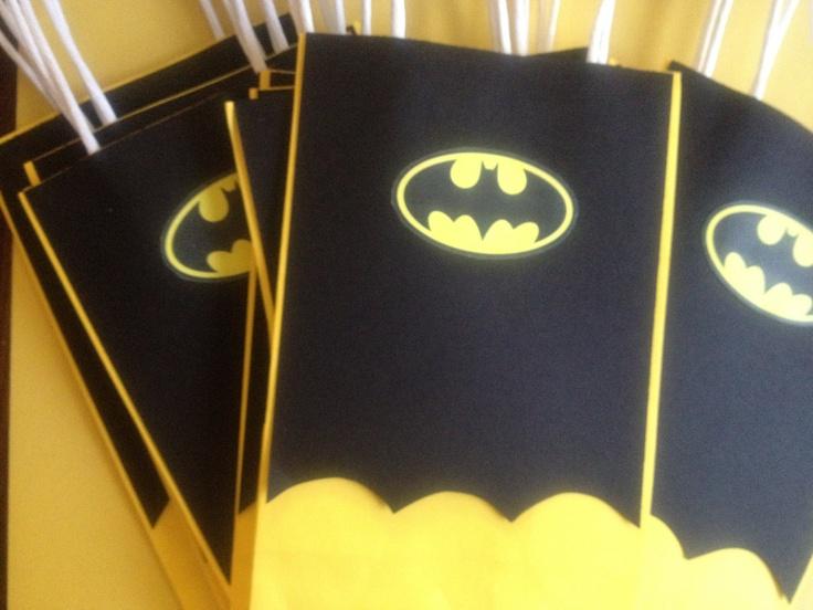 Batman Super Hero Goody Bags. $1.25, via Etsy.