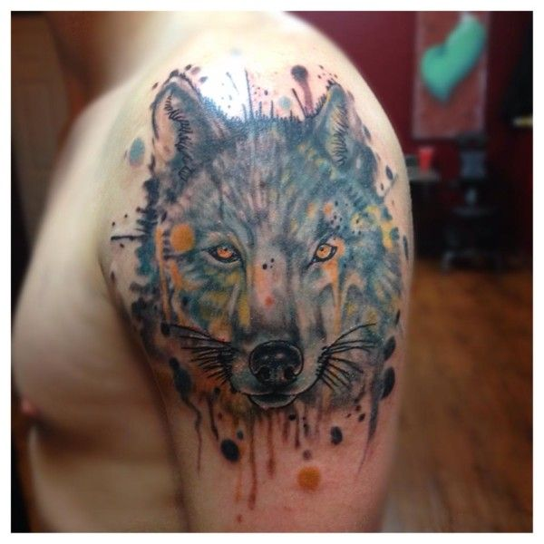 Tattoo Artists In Melbourne: 17 Best Ideas About Watercolor Wolf Tattoo On Pinterest