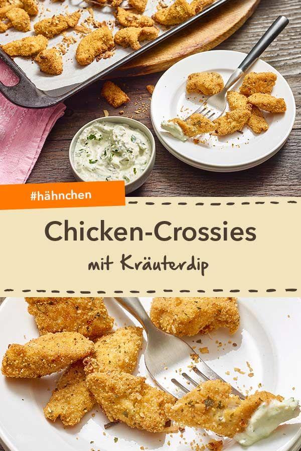 Knusprige Chicken Crossies   Perfekt Als Schnelles Fingerfood Oder  Partysnack. Besonders Lecker Mit Kräuterdip!