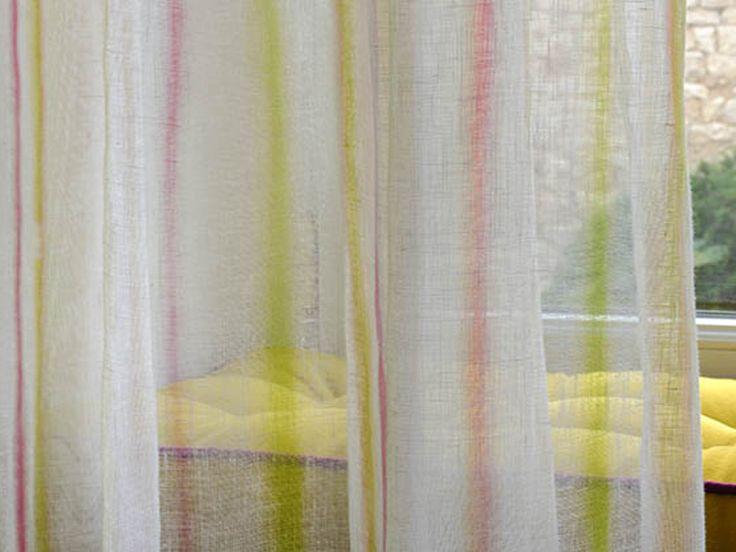 Tejido de lino para cortinas ROMANCE by Élitis