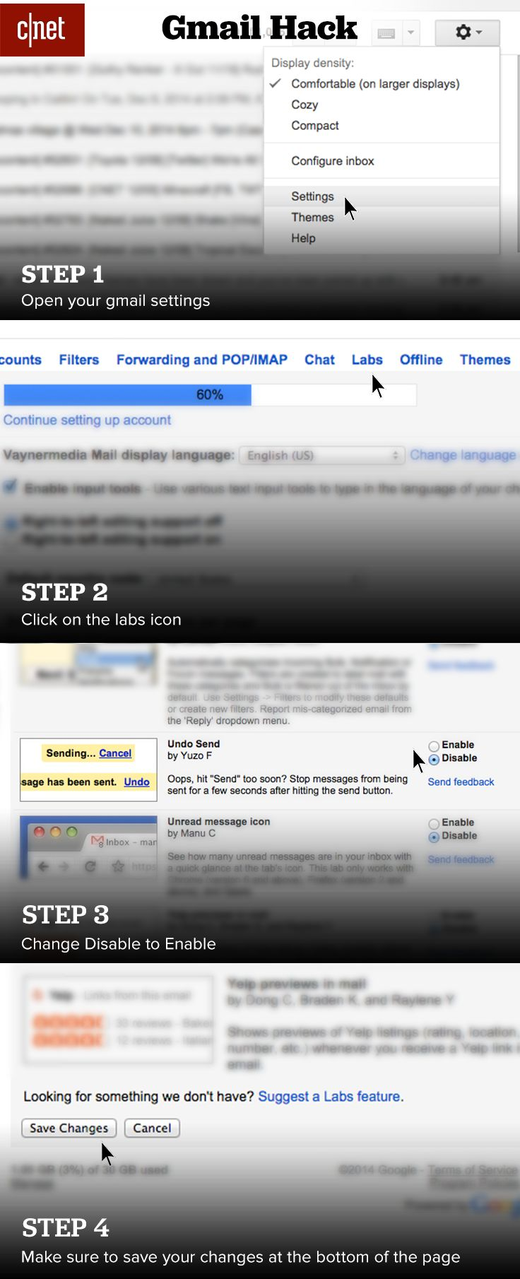 629 best tutorials diy images on pinterest android cleaning if youve ever sent an email to someone you didnt mean to then this gmail tip is for you give yourself a chance to take it back by enabling undo send in solutioingenieria Image collections