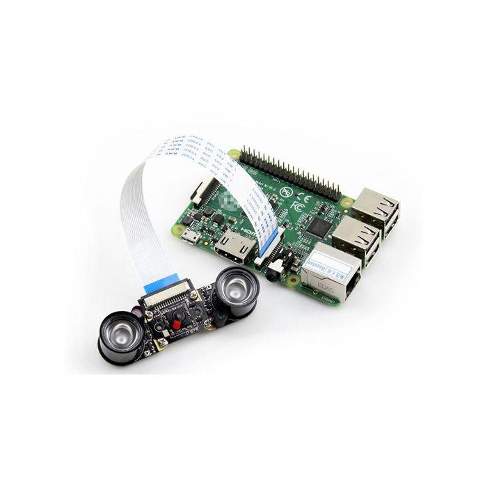 Waveshare 5.0MP Night Vision Camera Board for Raspberry Pi - Black