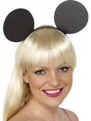 Orecchie Topolino, Mickey Mouse o Minnie, in gomma piuma monatate su cerchietto. Accessorio per costume di Carnevale, per Feste a Tema e semplicemente da giocare. Smiffy's2558