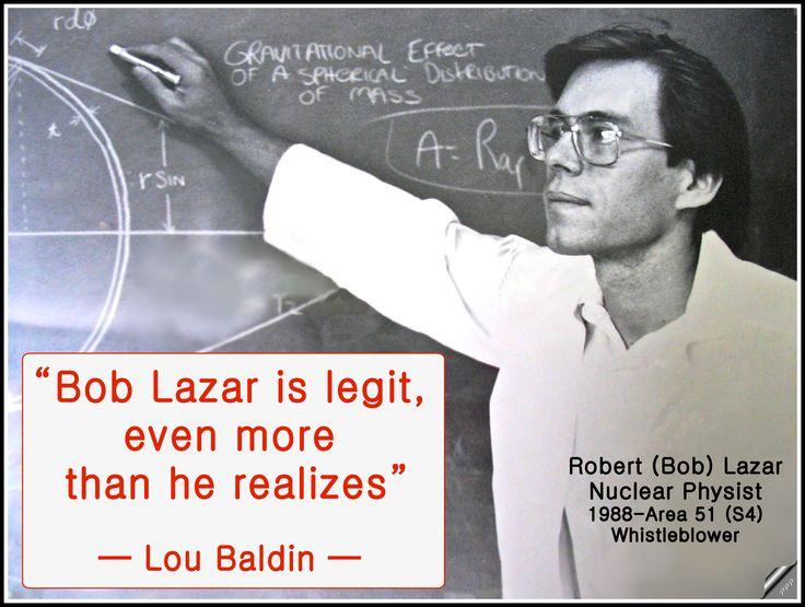 Bob Lazar is legit, even more than he realizes