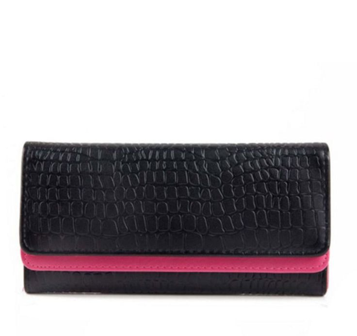 Snakeskin Textured Double Colour PU Women Purse